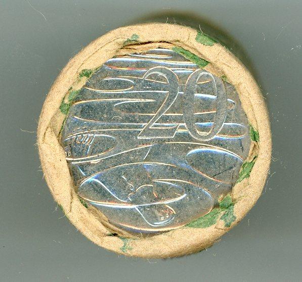 Thumbnail for 2001 Twenty Cent Coin Roll