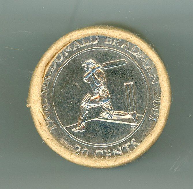 Thumbnail for 2001 Uncirculated 20c Coin Roll - Sir Donald Bradman