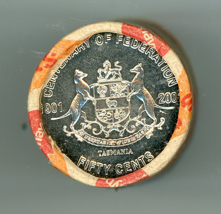 Thumbnail for 2001 Security Roll Federation Fifty Cent Roll - Tasmania