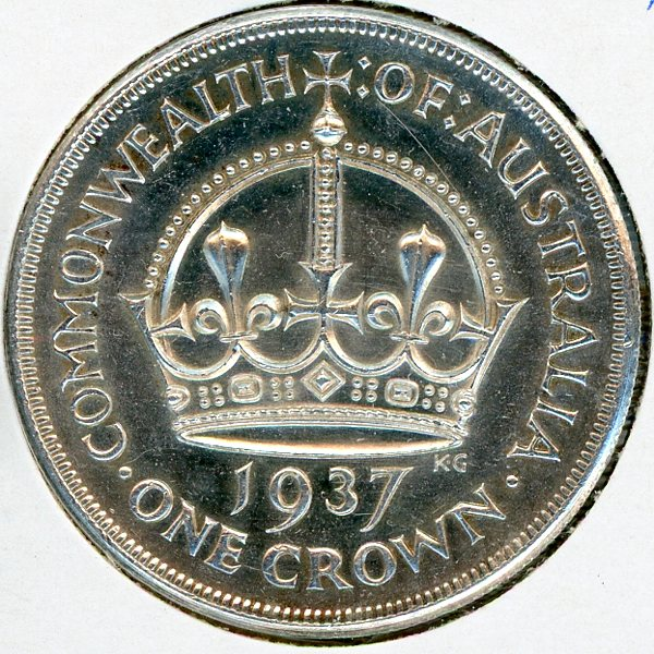 Thumbnail for 1937 Australian Crown (A) aUNC