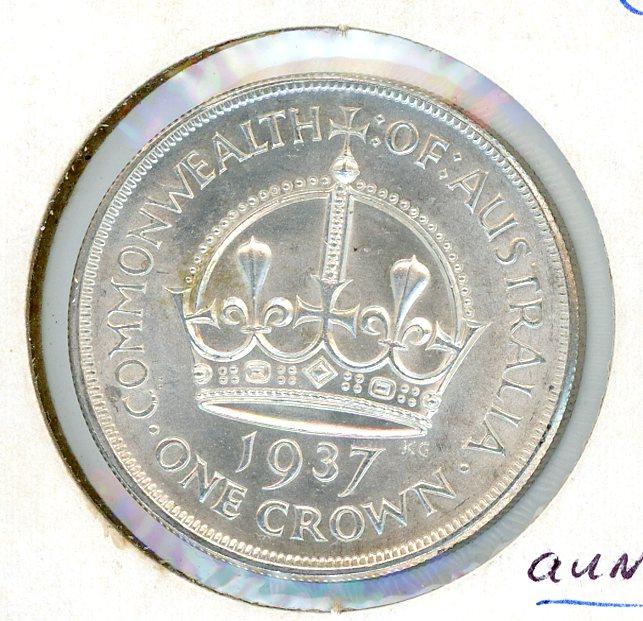 Thumbnail for 1937 Australian One Crown (D) aUNC