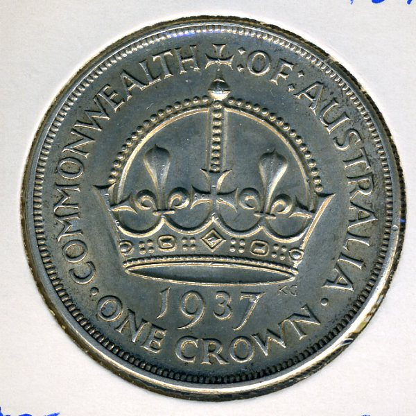 Thumbnail for 1937 Australian Crown (C) aUNC