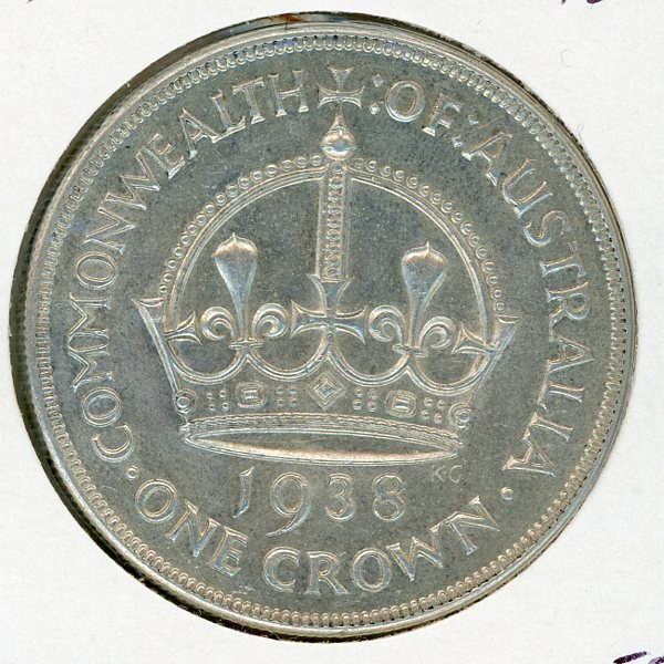 Thumbnail for 1938 Australian Crown (B) EF