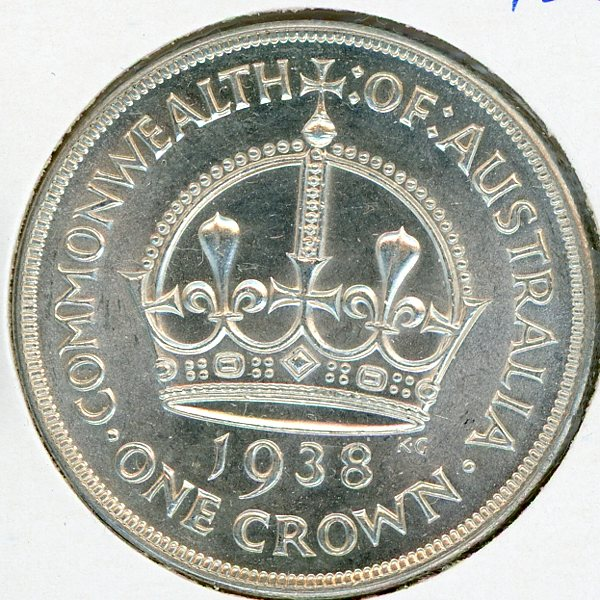 Thumbnail for 1938 Australian Crown aUNC