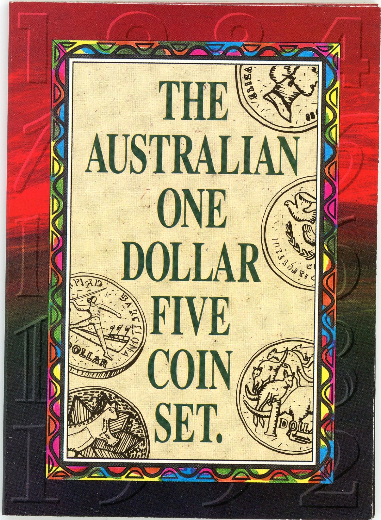 Thumbnail for 1984-1992 One Dollar Five Coin Set
