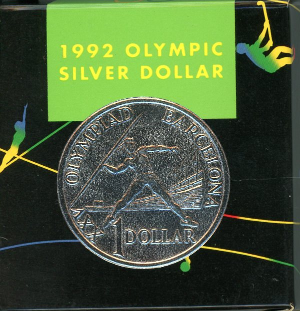 Thumbnail for 1992 Australian Silver Proof Coin - Barcelona Olympics