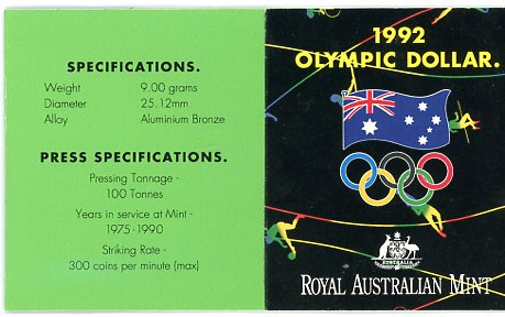 Thumbnail for 1992 Olympic Games with Entry Attached