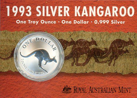 Thumbnail for 1993 1oz One Dollar Silver Kangaroo