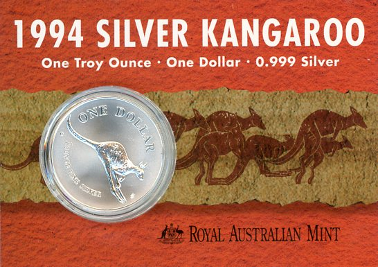 Thumbnail for 1994 1oz One Dollar Silver Kangaroo