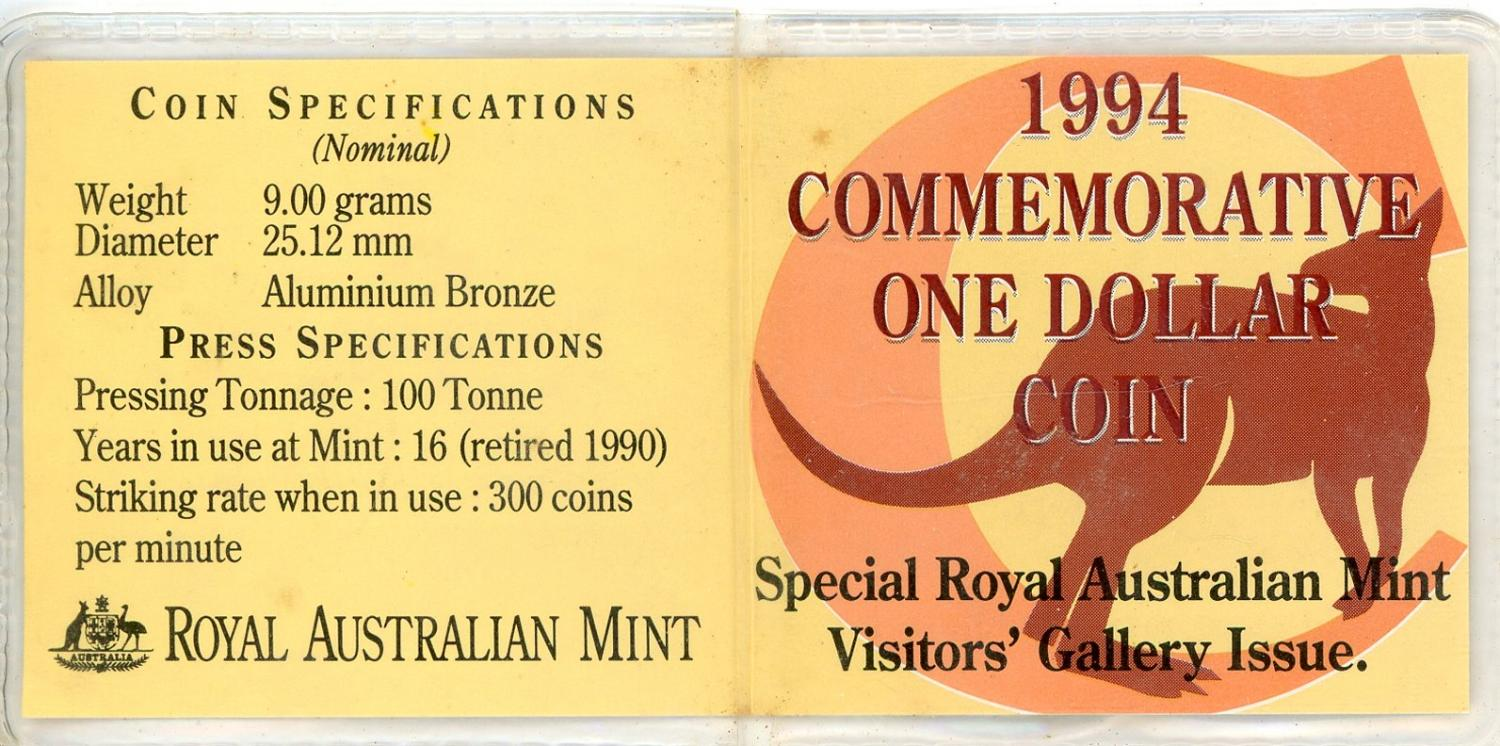 Thumbnail for 1994 Decade Dollar C Mintmark