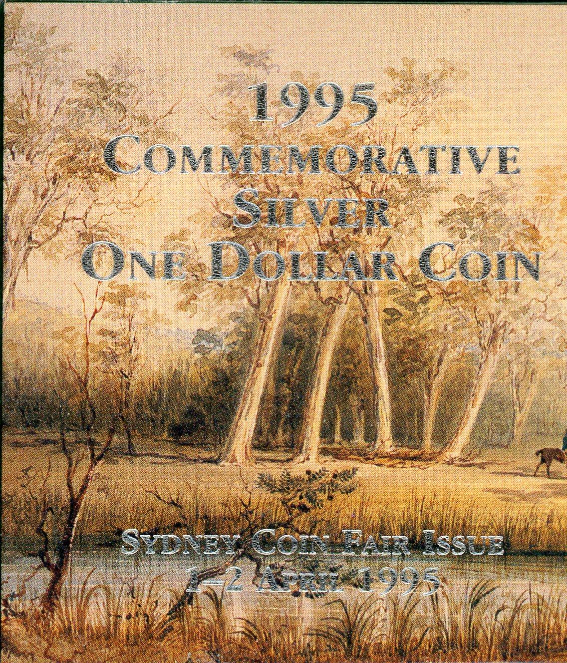 Thumbnail for 1995 Commemorative Silver Waltzing Matilda $1 Coin - Sydney Coin Fair 1-2 April 1995