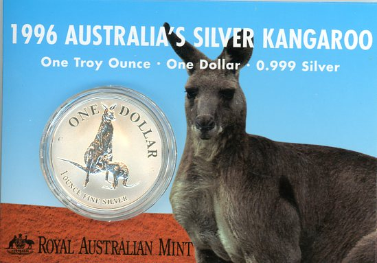 Thumbnail for 1996 One Dollar 1oz Silver Kangaroo