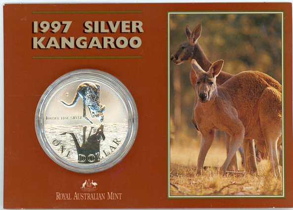 Thumbnail for 1997 1oz One Dollar Silver Kangaroo