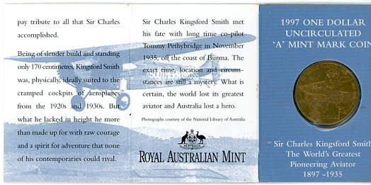 Thumbnail for 1997 Sir Charles Kingsford-Smith A Mintmark