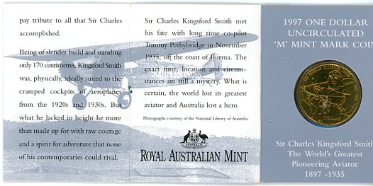 Thumbnail for 1997 Sir Charles Kingsford-Smith M Mintmark