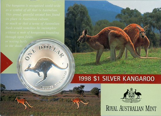 Thumbnail for 1998 One Dollar 1oz Silver Kangaroo