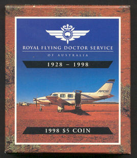 Thumbnail for 1998 Royal Flying Doctor Service $5 Proof