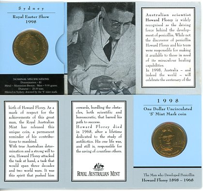 Thumbnail for 1998 Howard Florey S Mintmark