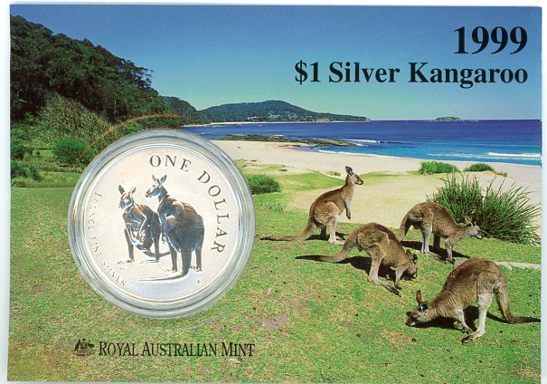 Thumbnail for 1999 1oz One Dollar Silver Kangaroo
