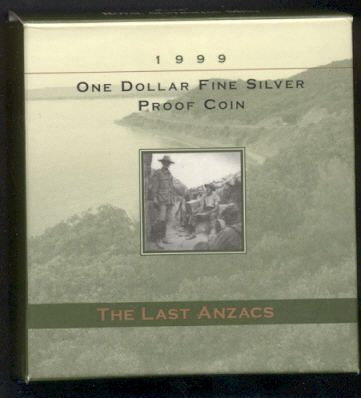 Thumbnail for 1999 Australian Silver Proof Coin - Last Anzacs Dollar
