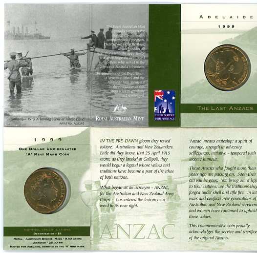 Thumbnail for 1999 The Last Anzacs A Mintmark