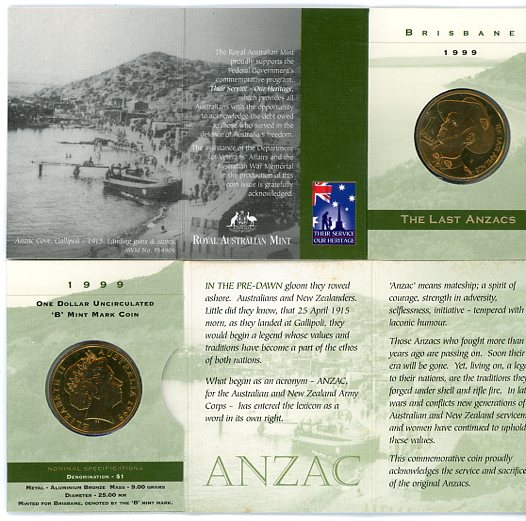 Thumbnail for 1999 The Last Anzacs B Mintmark