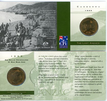 Thumbnail for 1999 The Last Anzacs C Mintmark