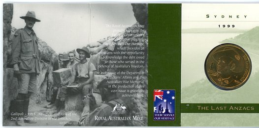 Thumbnail for 1999 The Last Anzacs S Mintmark