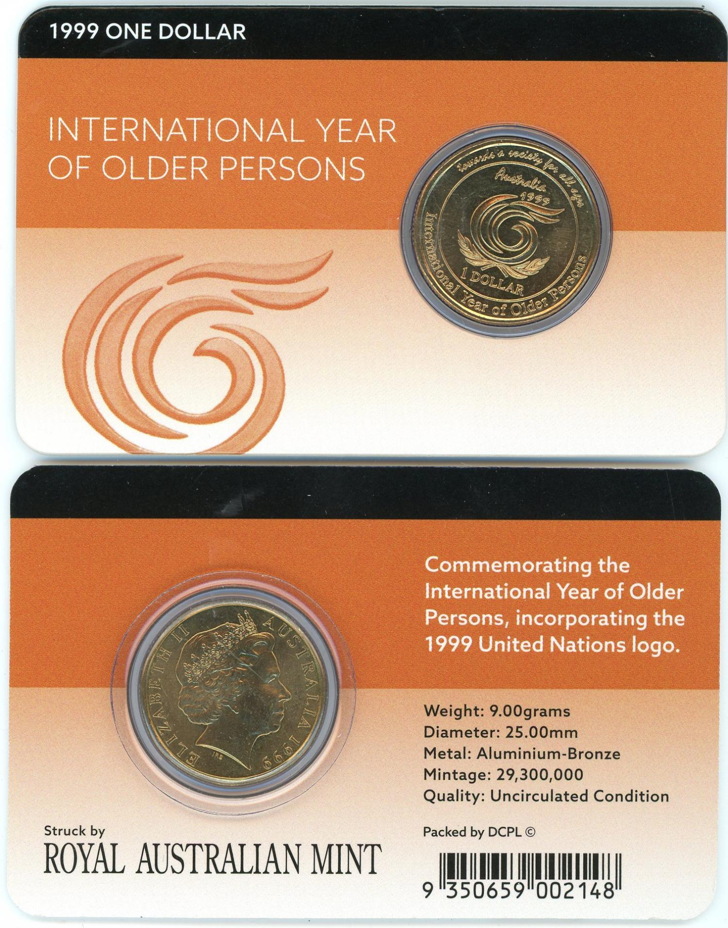 Thumbnail for 1999 $1 International Year of Older Persons