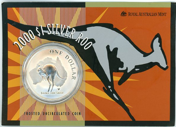 Thumbnail for 2000 1oz One Dollar Silver Kangaroo