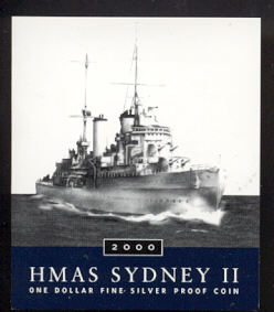 Thumbnail for 2000 Australian Silver Proof Coin - HMAS Sydney II