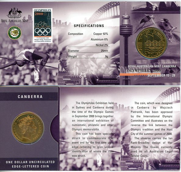 Thumbnail for 2000 Olymphilex Canberra