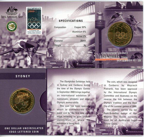 Thumbnail for 2000 Olymphilex Centrepoint Sydney