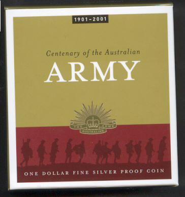 Thumbnail for 2001 Australian Silver Proof Coin -  Centenary of the Australian Army