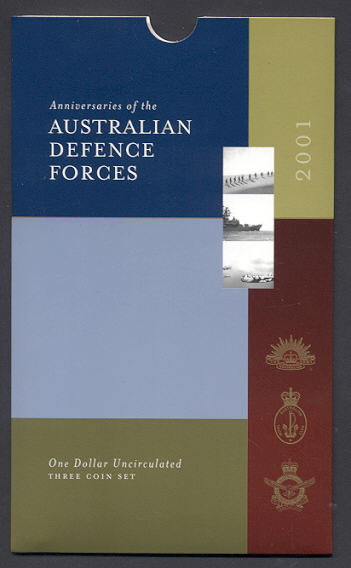Thumbnail for 2001 Australian Defence Force Set of Three $1.00 Coins