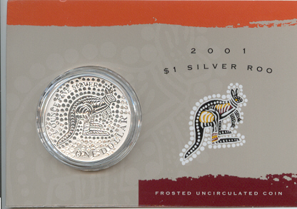 Thumbnail for 2001 1oz One Dollar Silver Kangaroo