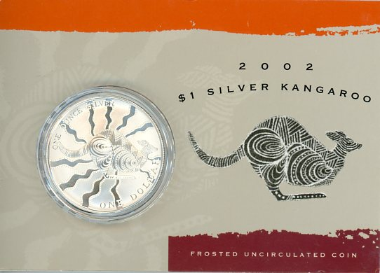 Thumbnail for 2002 1oz One Dollar Silver Kangaroo