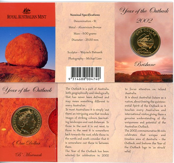 Thumbnail for 2002 Outback B Mintmark