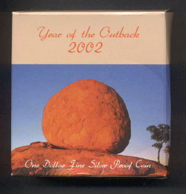 Thumbnail for 2002 Australian Silver Proof Coin - Outback Dollar
