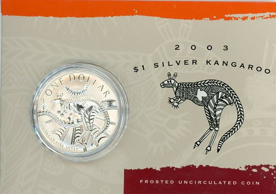 Thumbnail for 2003 1oz One Dollar Silver Kangaroo
