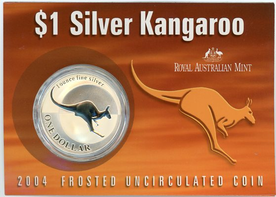 Thumbnail for 2004 1oz One Dollar Silver Kangaroo