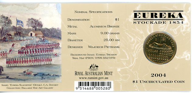 Thumbnail for 2004 Eureka Stockade - B Mintmark