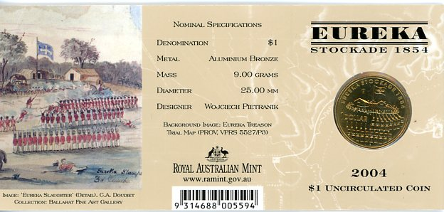 Thumbnail for 2004 Eureka Stockade - E Mintmark