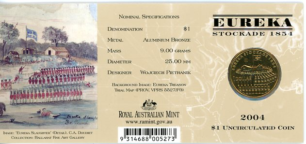 Thumbnail for 2004 Eureka Stockade - M Mintmark
