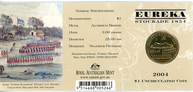 Thumbnail for 2004 Eureka Stockade - S Mintmark