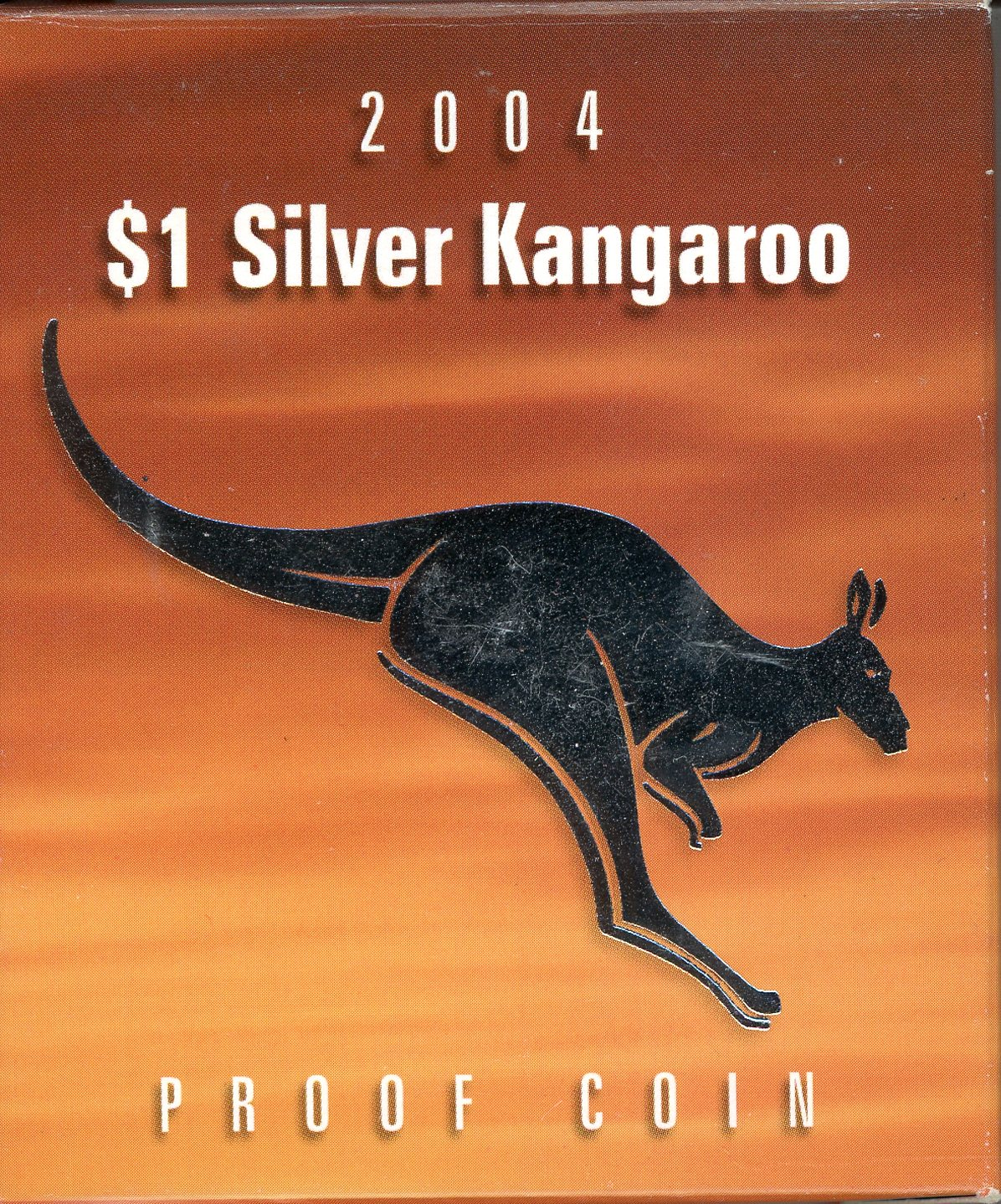 Thumbnail for 2004 $1 Silver Proof Kangaroo