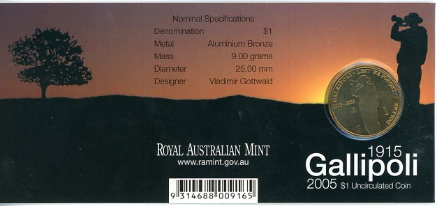 Thumbnail for 2005 Gallipoli - G Mintmark
