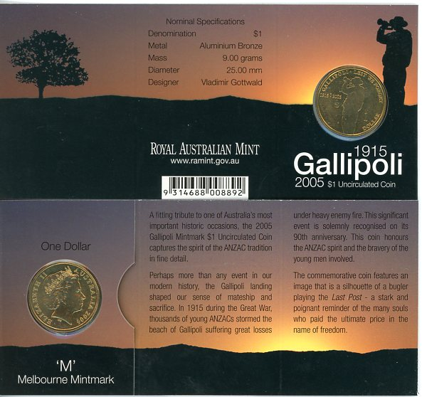 Thumbnail for 2005 Gallipoli M Mintmark