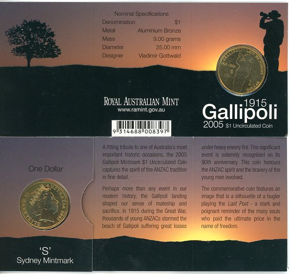 Thumbnail for 2005 Gallipoli S Mintmark