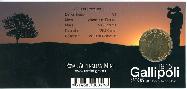 Thumbnail for 2005 Gallipoli - B Mintmark